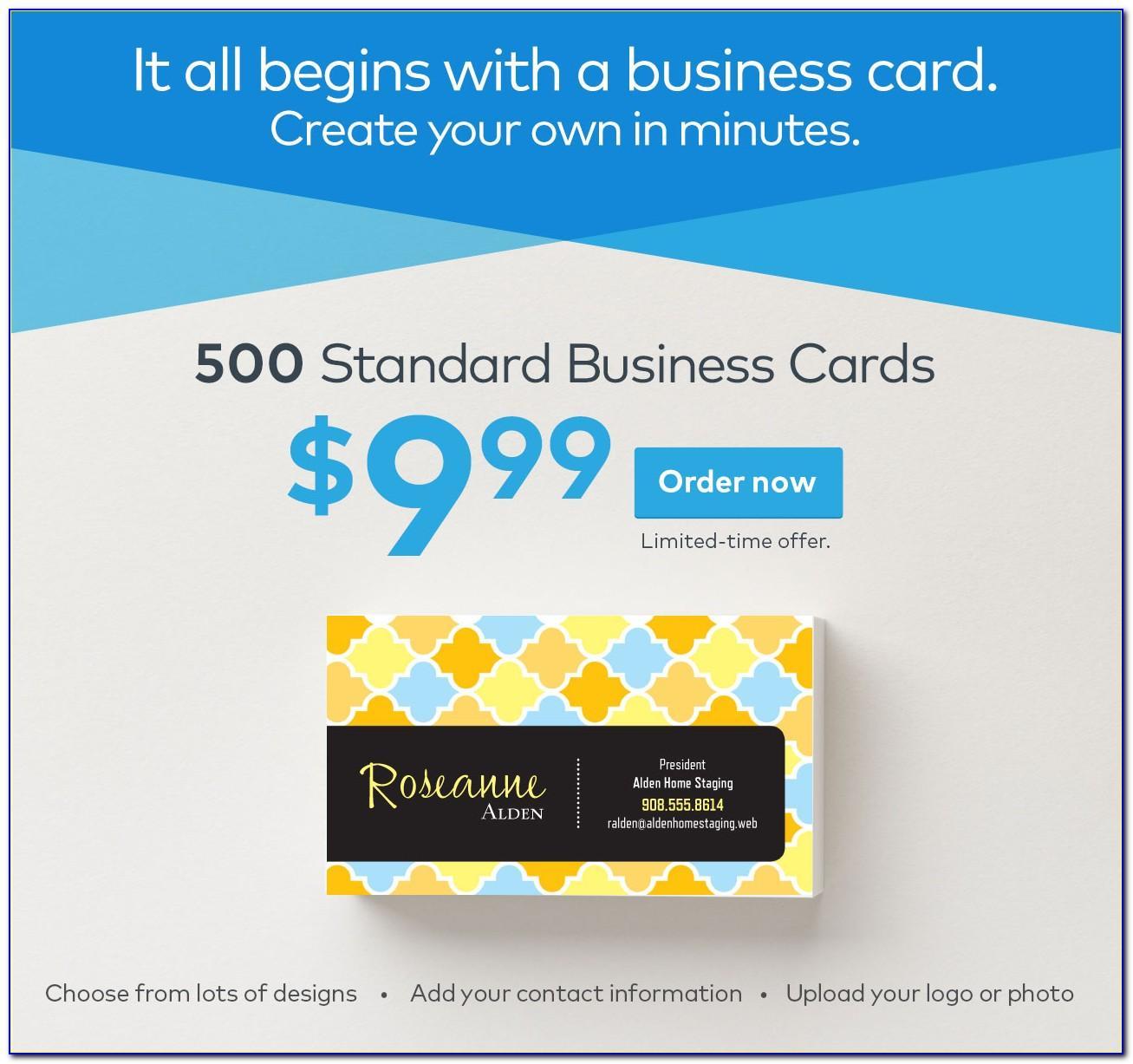 Vistaprint Coupon Code 500 Business Cards