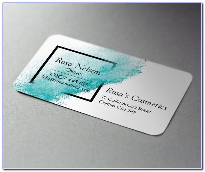 Vistaprint Floral Business Cards