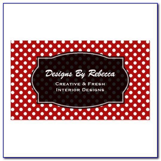 Vistaprint Polka Dot Business Cards