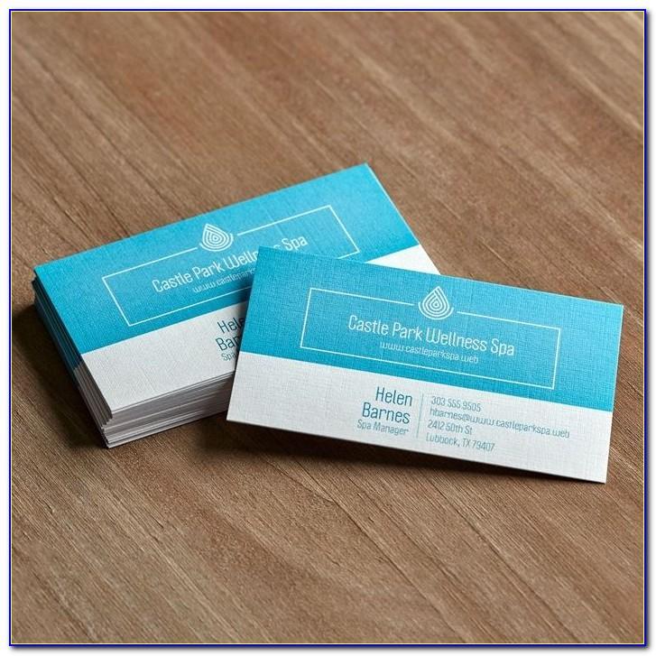 Vistaprint Vertical Business Card Template