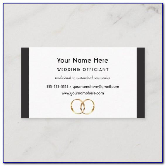 Wedding Officiant Business Cards Samples