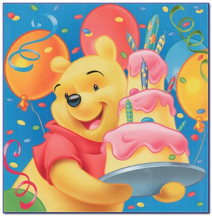Winnie The Pooh Birthday Cards Free