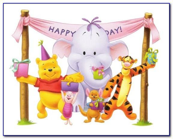 Winnie The Pooh Birthday Cards Printable Free