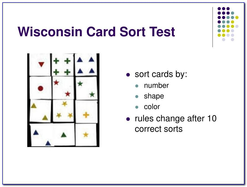 Wisconsin Card Sorting Test Online Version Free