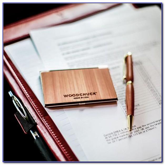 Woodchuck Business Card Holder