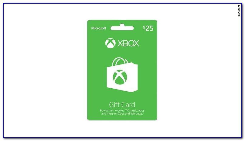 Xbox 25 Dollar Gift Card Code Free