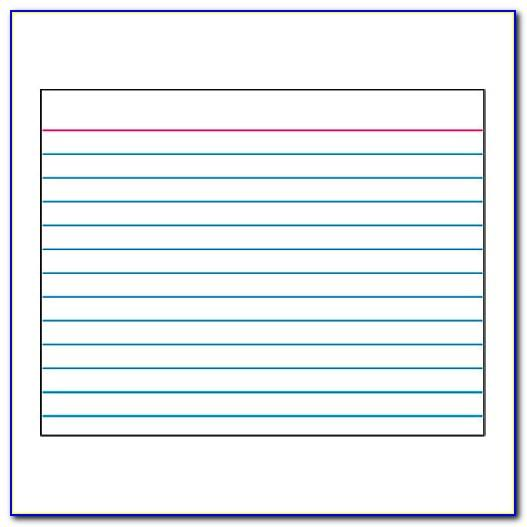 3x5 Index Card Template Word 2010