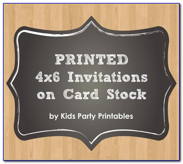 4x6 Invitation Card Stock