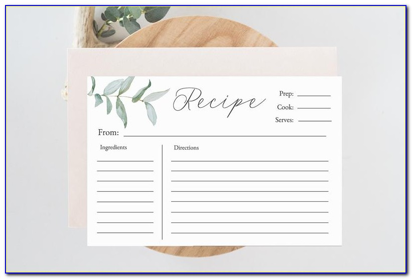 5x8 Index Card Template Word