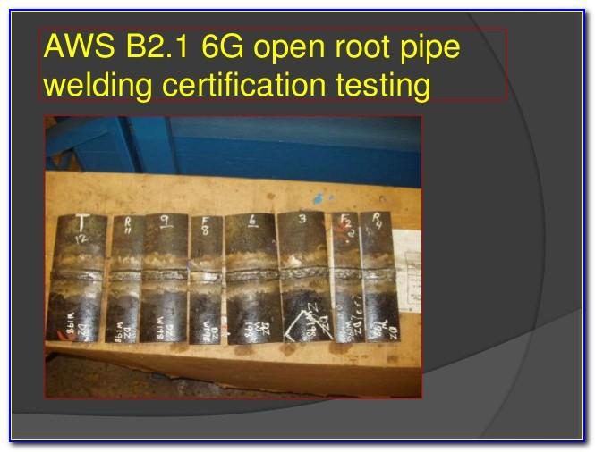 6g Welding Certification Cost