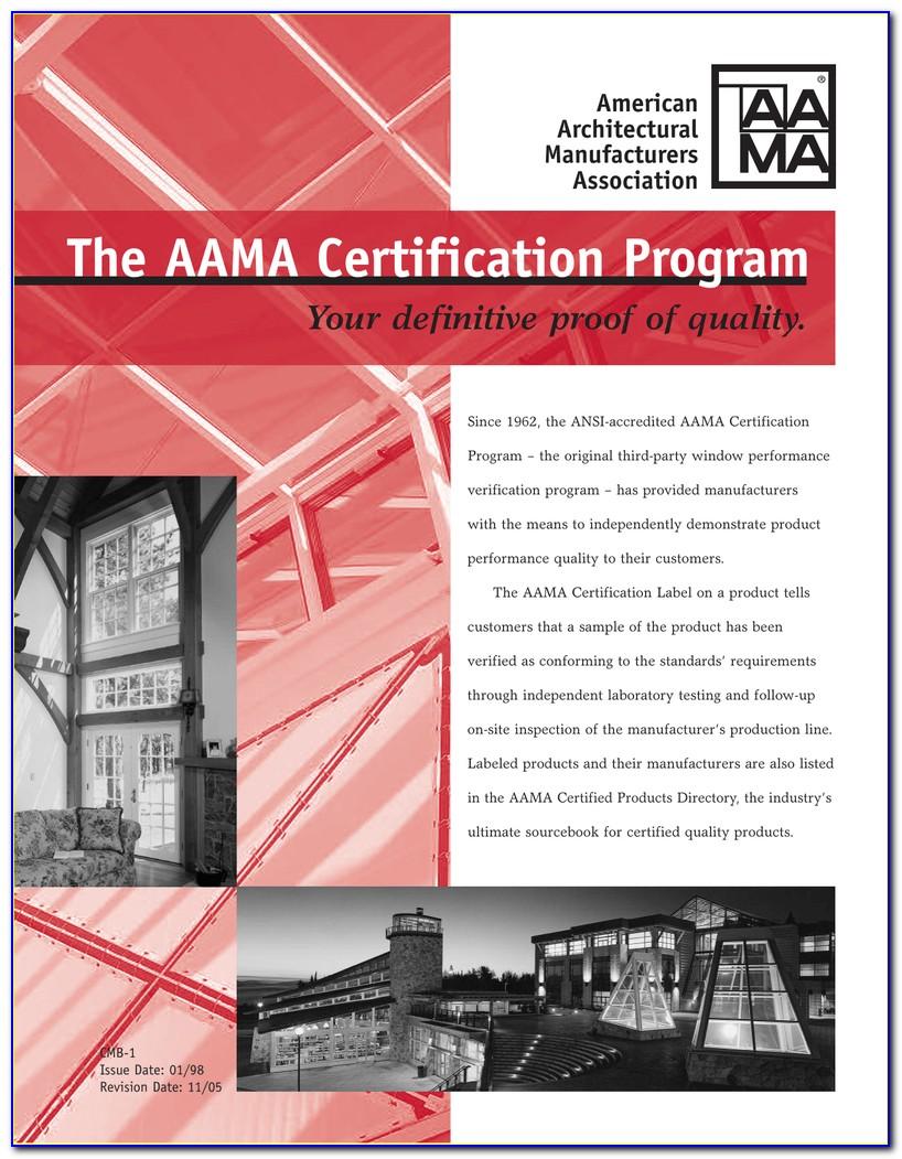Aama Certification Program Manufacturer Codes