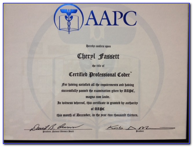 Aapc Coding Certification Verification