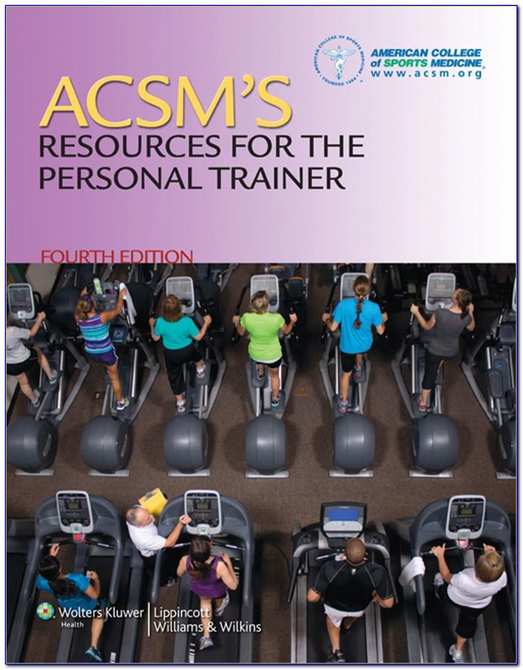 Acsm Personal Training Certification Online