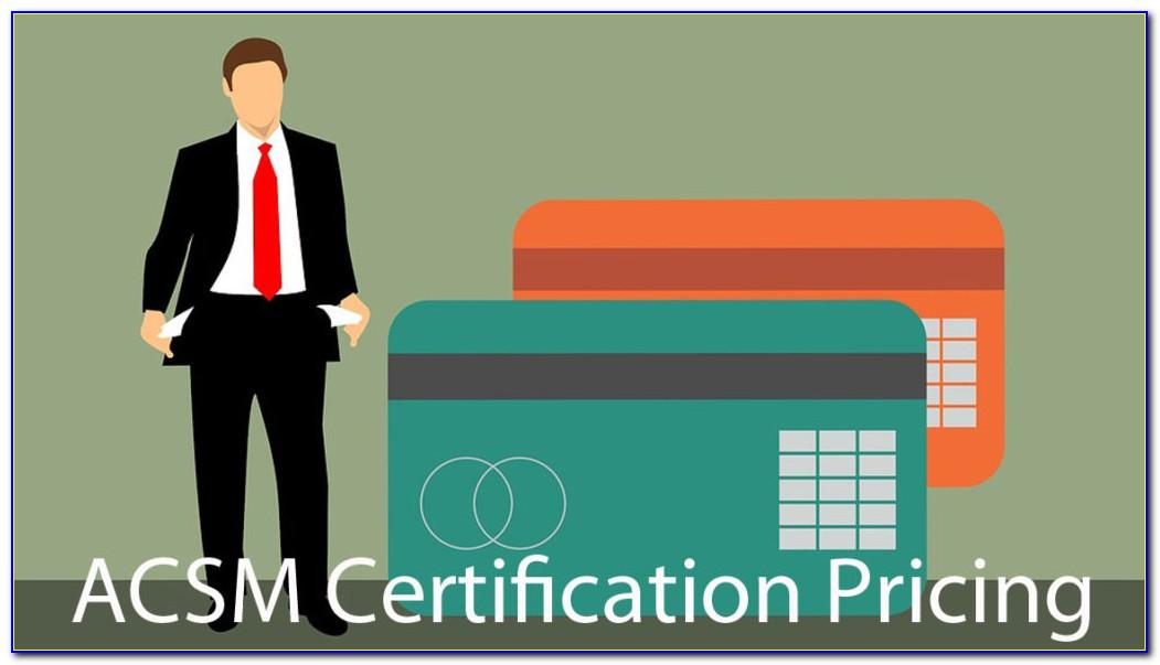 Acsm Personal Training Certification Test