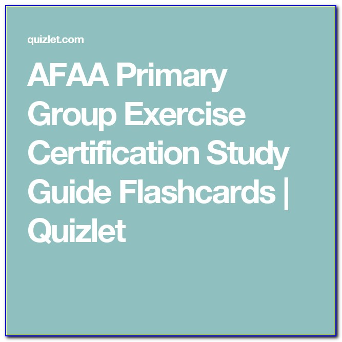 Afaa Group Fitness Certification Quizlet