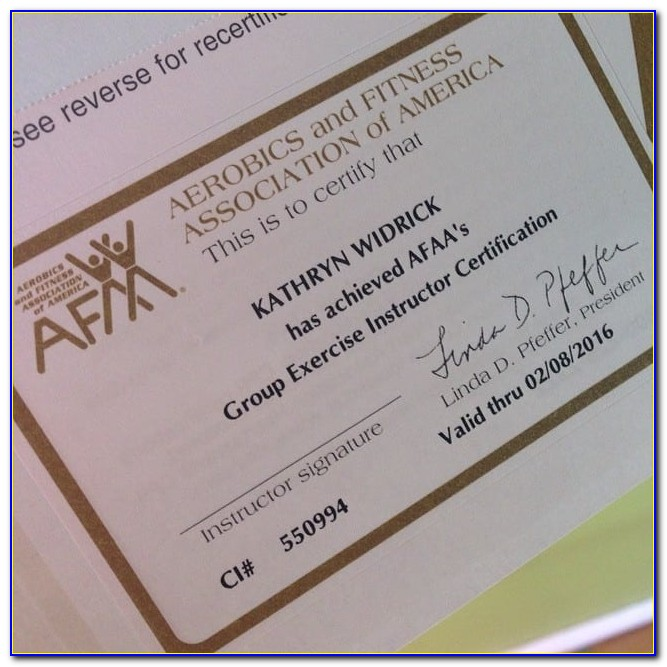 Afaa Group Fitness Certification Reviews