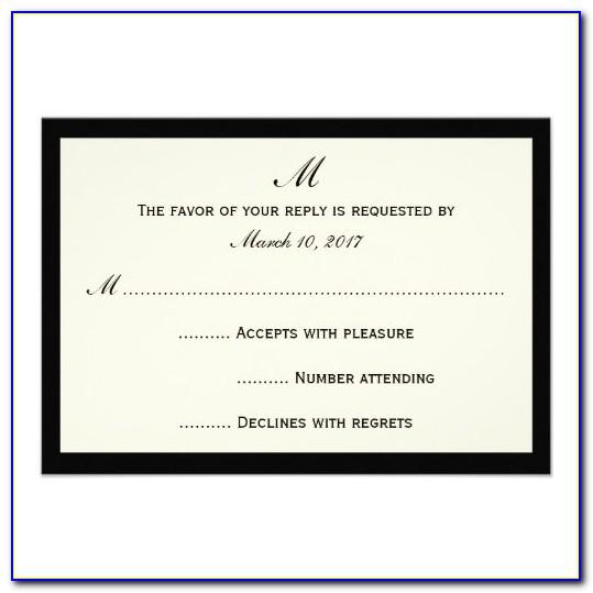 Affordable Wedding Rsvp Cards