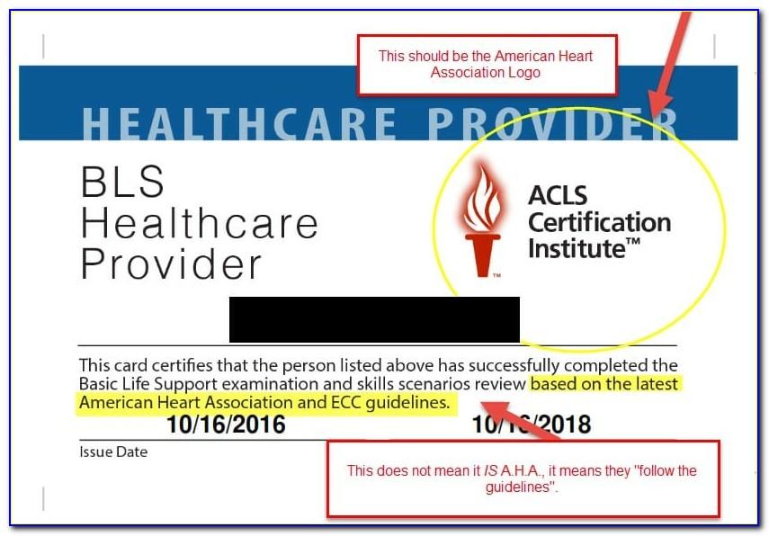 Aha Bls Certification Card