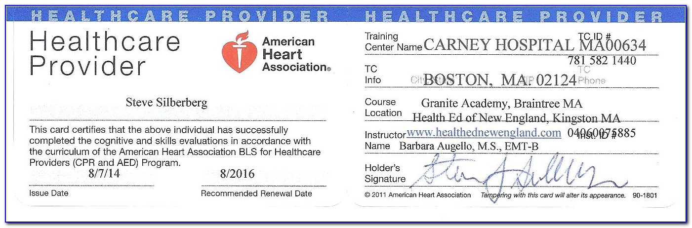 Aha Bls Certification For Healthcare Providers