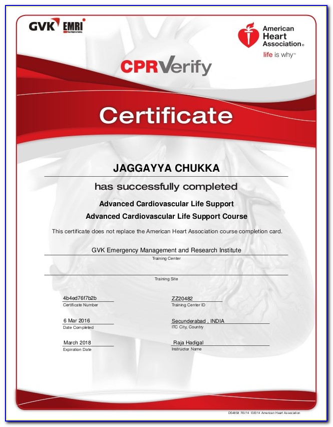 Aha Cpr Certification Lookup