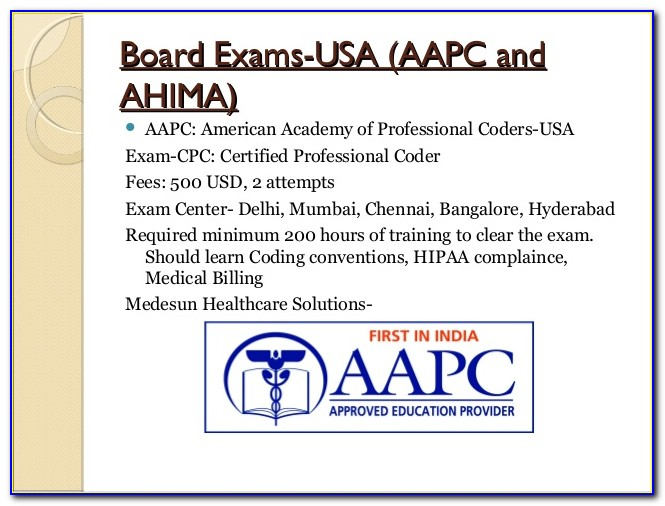 Ahima Coder Certification