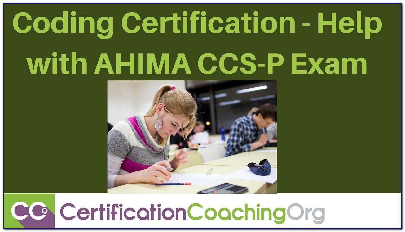 Ahima Coding Certification Exam