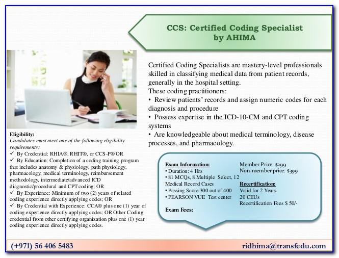 Ahima Coding Certification Verification