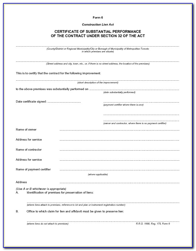 Aia Form G704 Certificate Of Substantial Completion