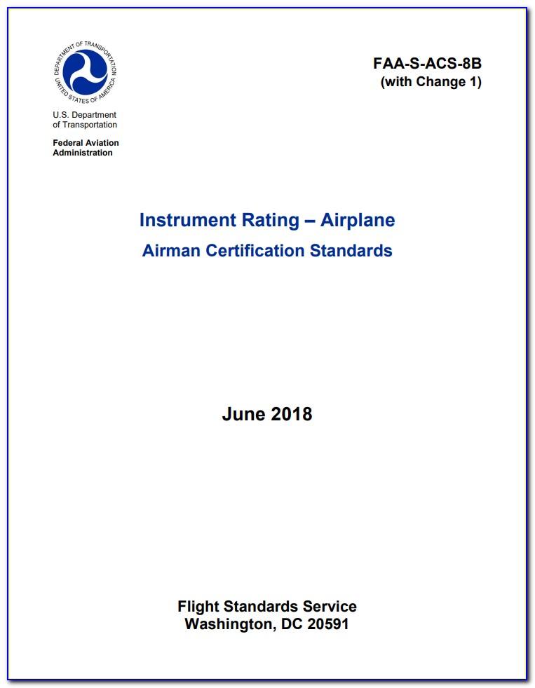 Airman Certification Standards Pdf