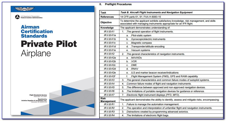Airman Certification Standards Private Pilot