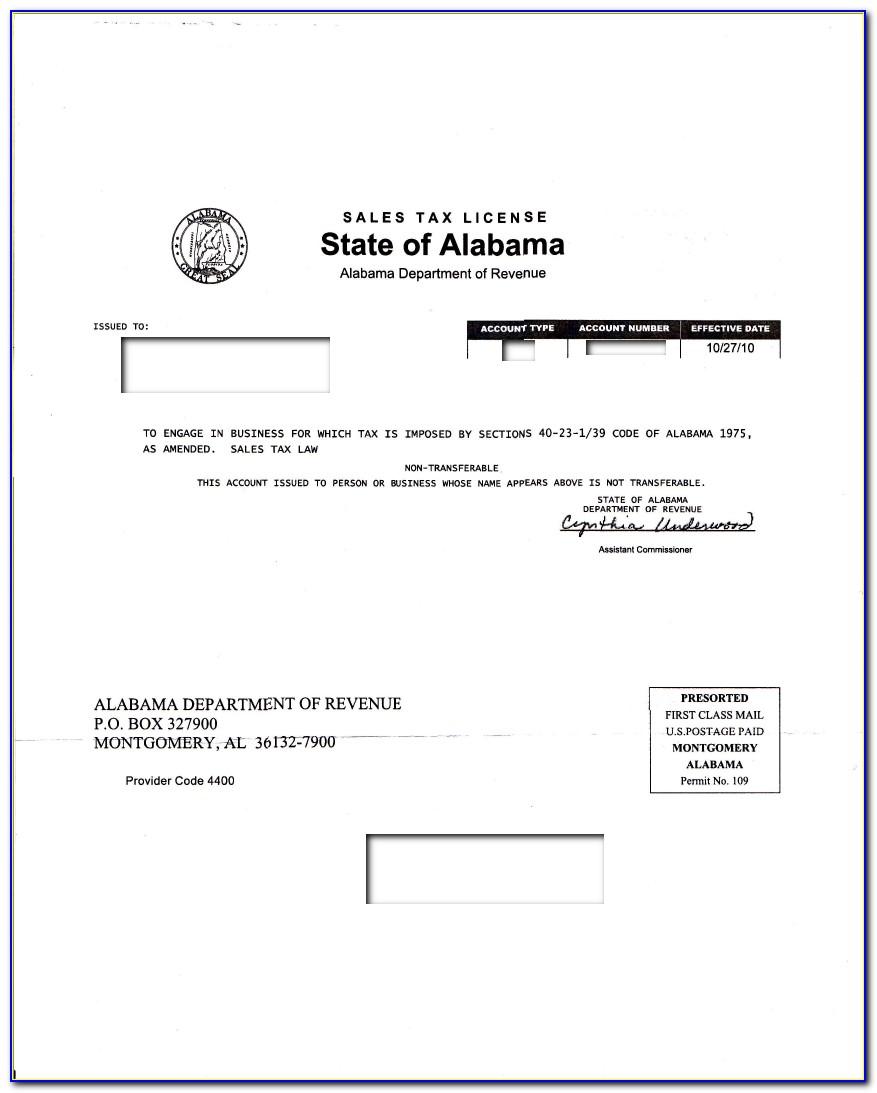 Alabama Resale Certificate Form
