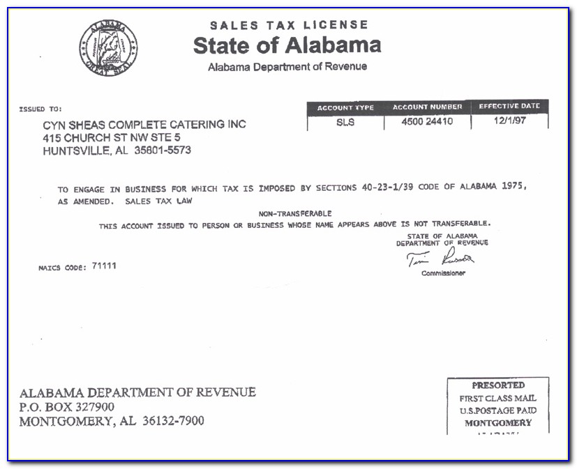 Alabama Resale Certificate Out Of State