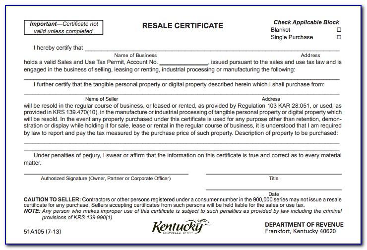 Alabama Resale Certificate Pdf