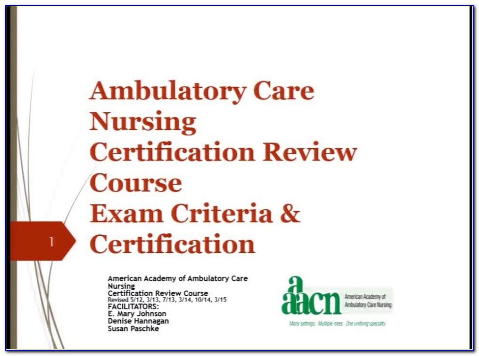 Ambulatory Nursing Certification Review Book