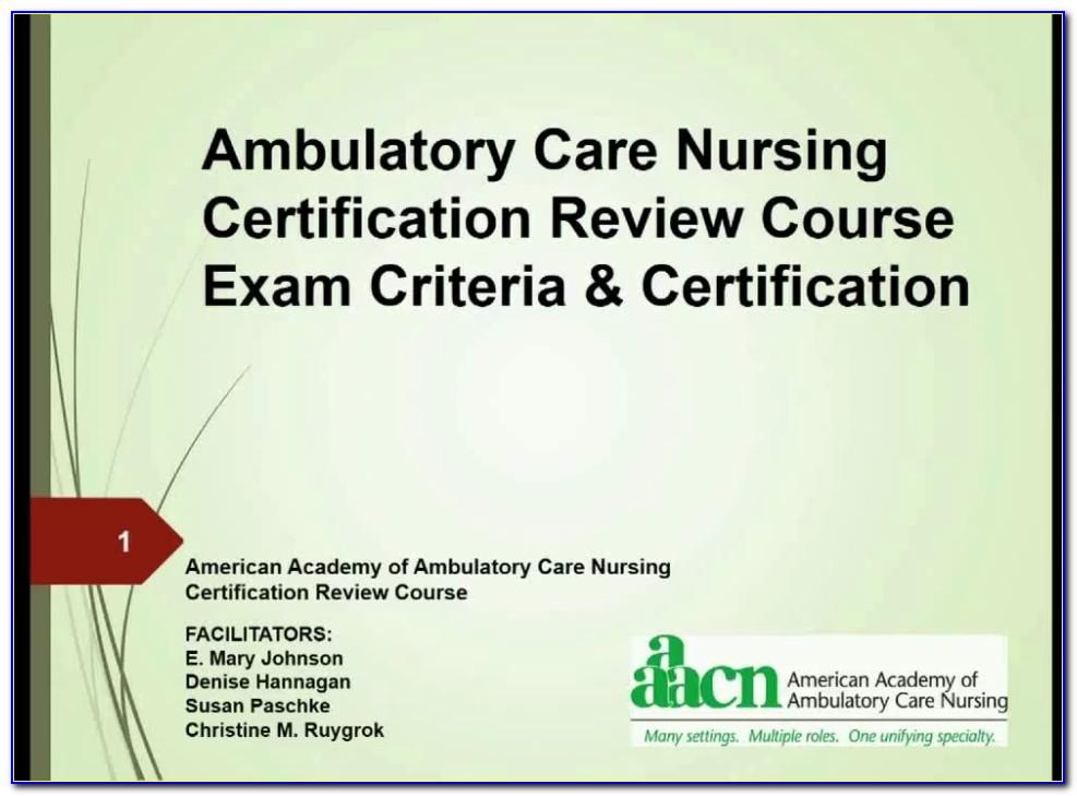 Ambulatory Nursing Certification Study Guide