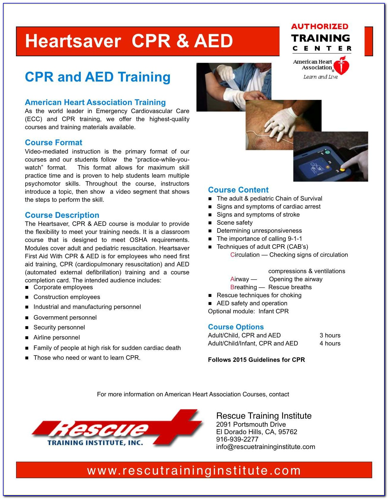 American Heart Association Cpr Aed Certification Cost