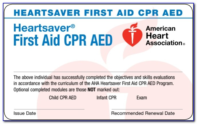 American Heart Association Cpr Aed Certification Near Me
