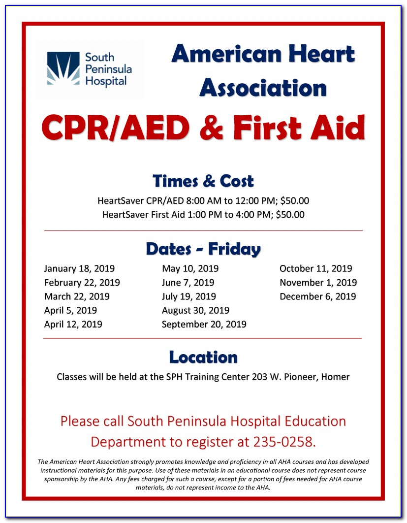 American Heart Association First Aid Cpr Aed Certification