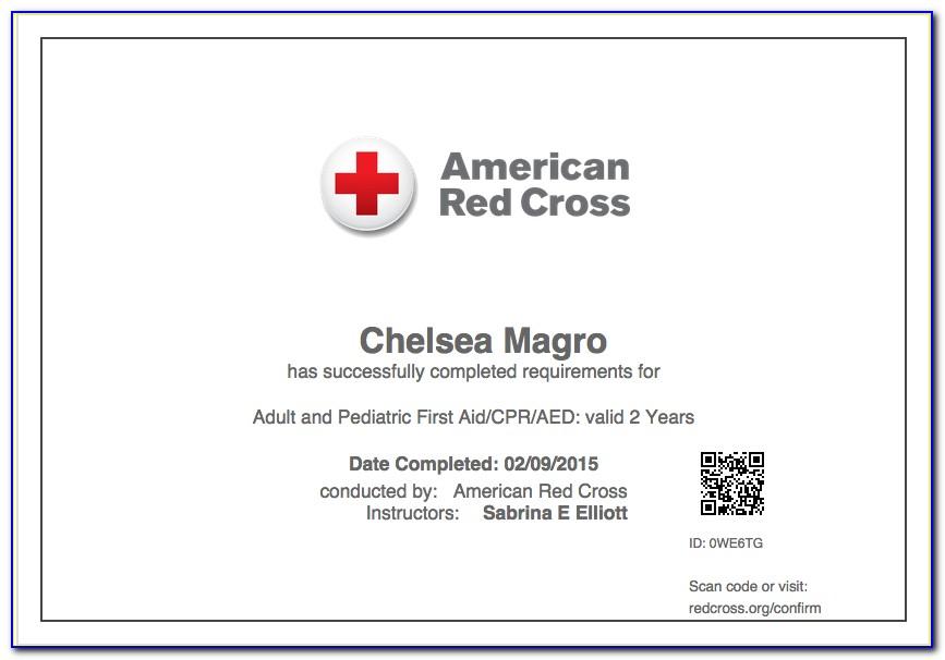 American Red Cross Certification Lookup