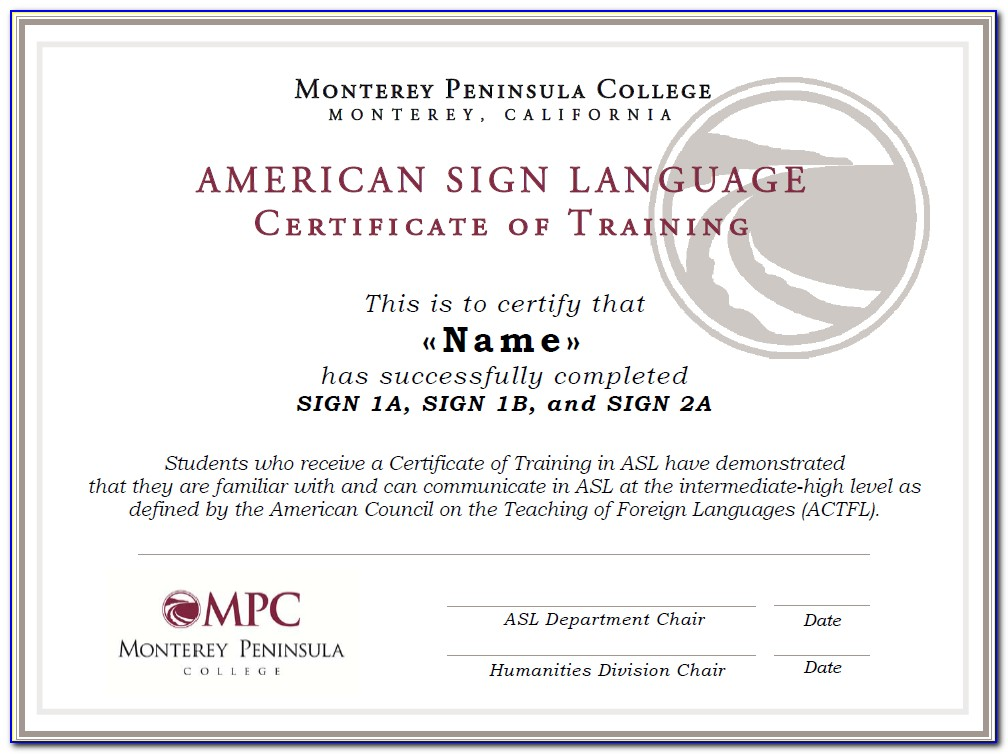 American Sign Language Certificate Programs
