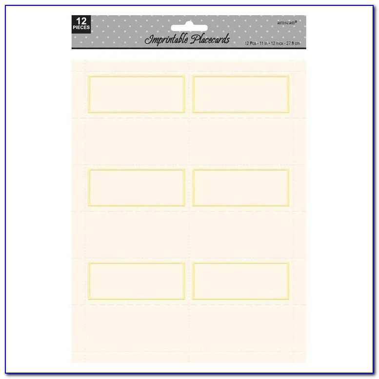 Amscan Place Cards Template