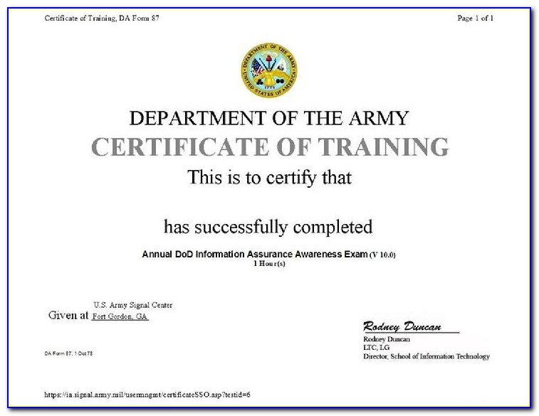 Annual Dod Cyber Awareness Challenge Certificate