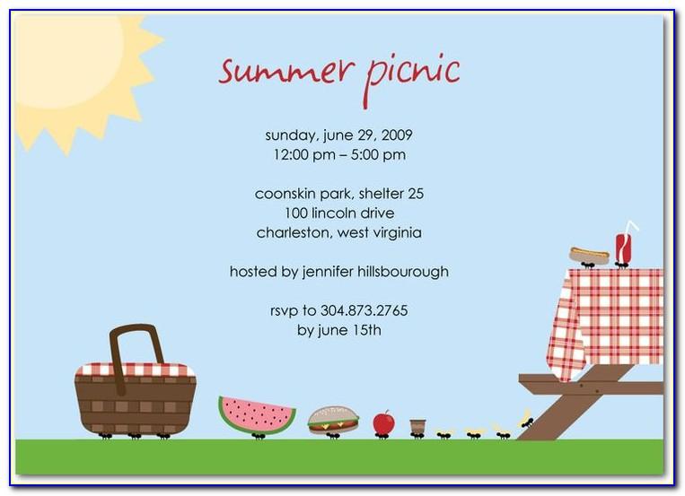 Annual Picnic Invitation Card