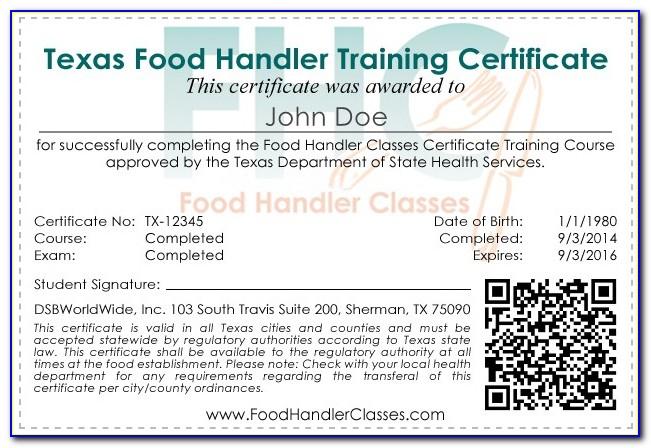Ansi Food Handler Certification Lookup