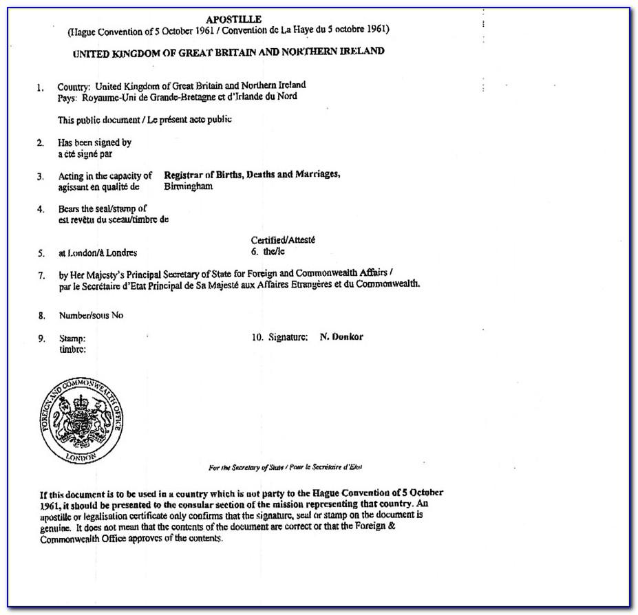 Apostille Birth Certificate Florida