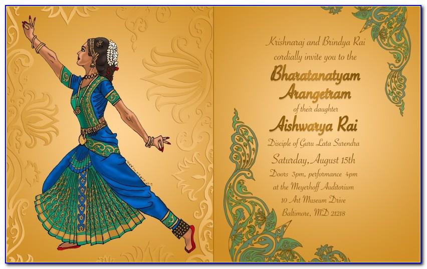 Arangetram Invitation Card Design