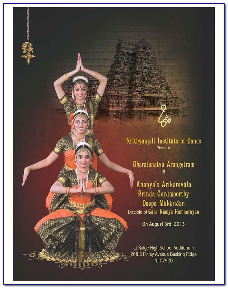 Arangetram Invitation Card Online