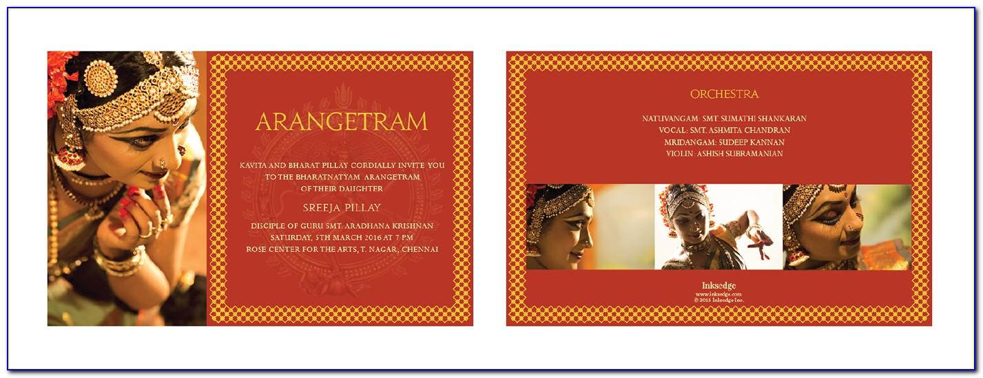 Arangetram Invitation Cards Samples
