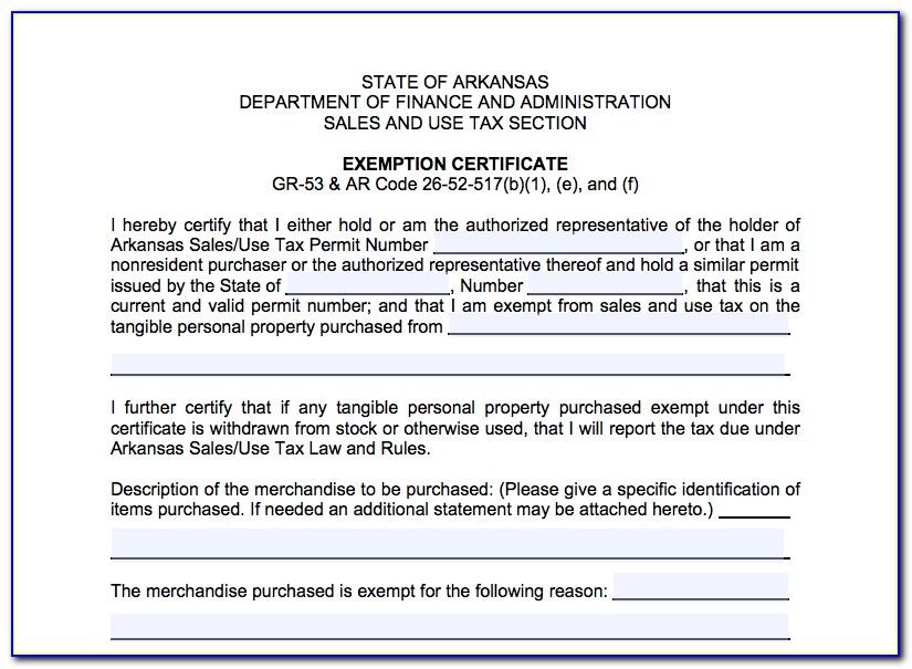 Arkansas Resale Certificate Lookup