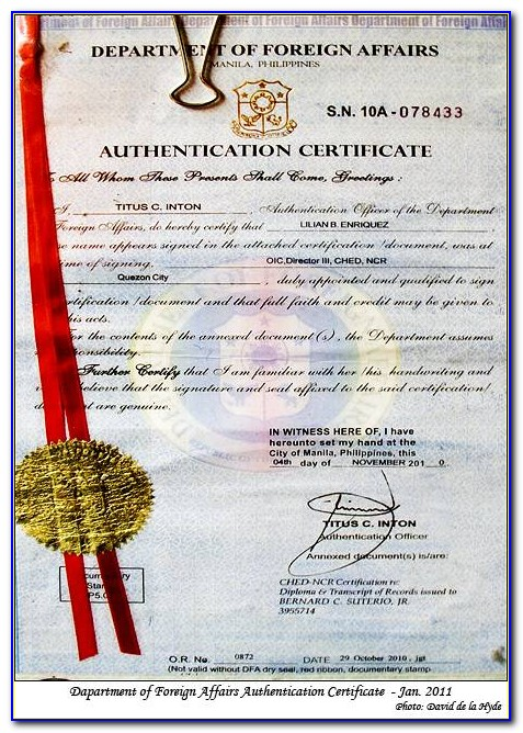 Authenticated Birth Certificate On Security Paper